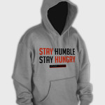 Stay Humble Hoodie Light Grey