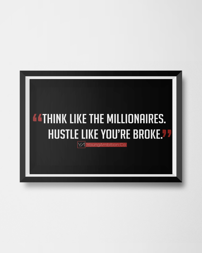Think Like A Millionaire Poster