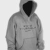 Know Yourself Geometric Hoodie Light Grey
