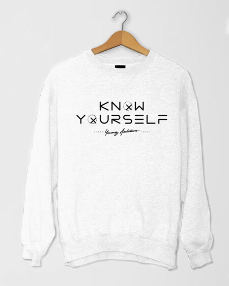Know Yourself Geometric SShirt White