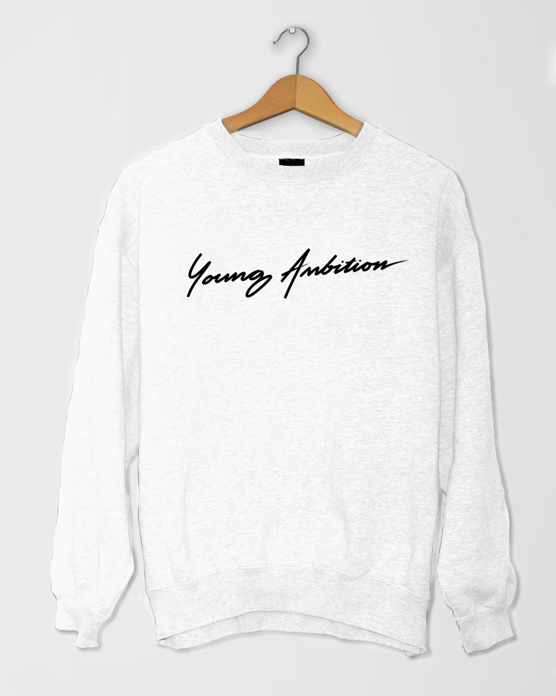 Young Ambition Cursive SShirt White