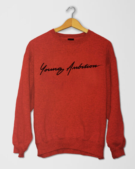 Young Ambition Cursive SShirt Red