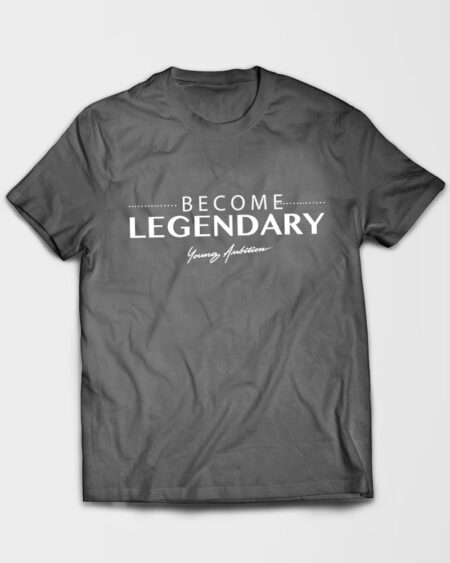 Become Legendary Tshirt Grey