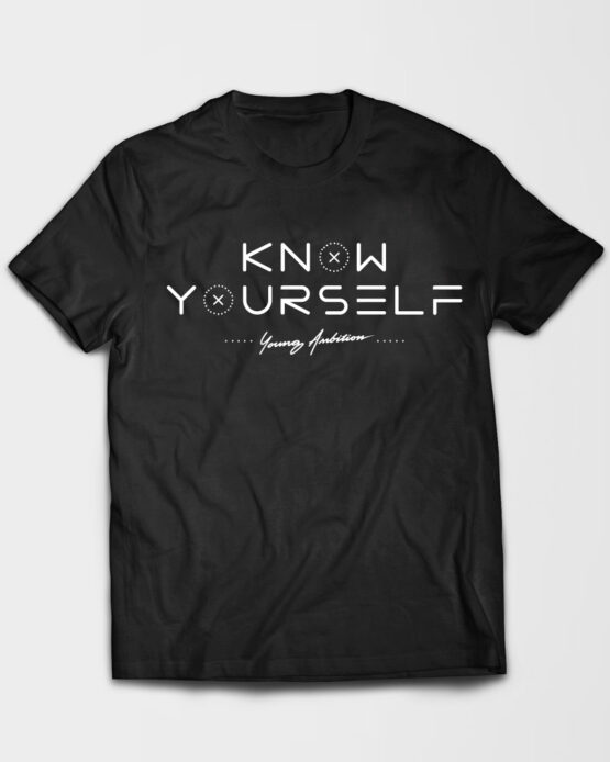 Know Yourself Geometric Tshirt Black