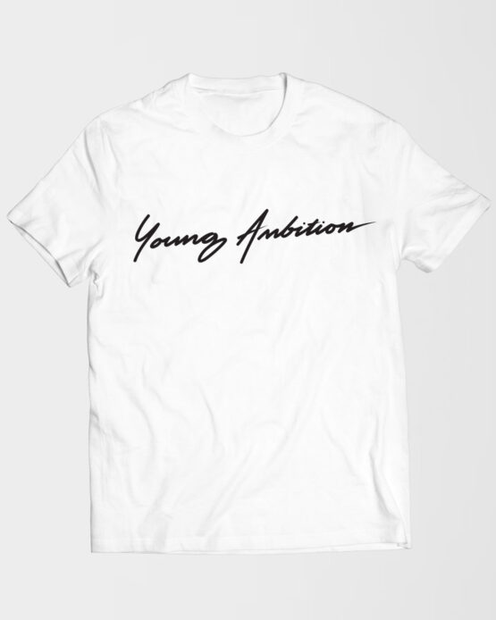 Young Ambition Cursive Tshirt White