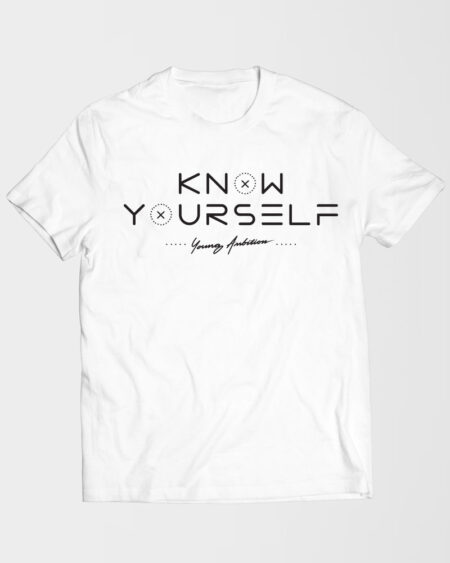 Know Yourself Geometric Tshirt White