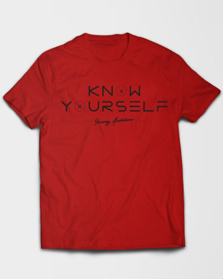 Know Yourself Geometric Tshirt Red