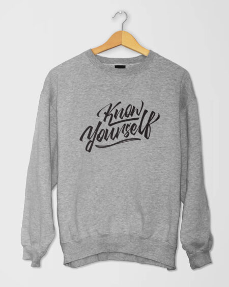 Know Yourself Cursive SShirt Gray