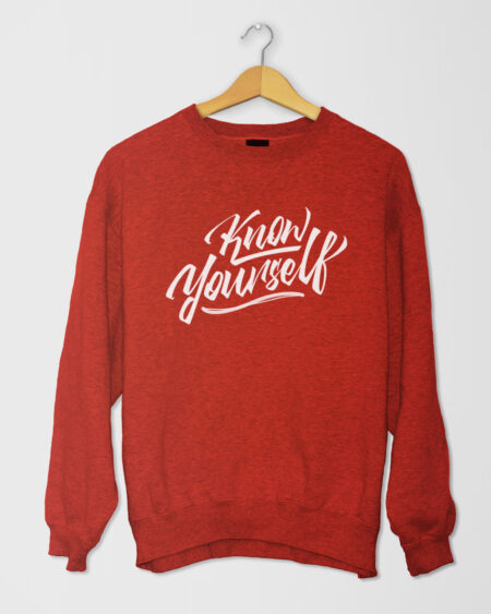 Know Yourself Cursive SShirt Red