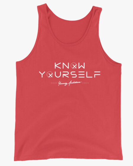 Know Yourself Geometric Men Tank Top Red