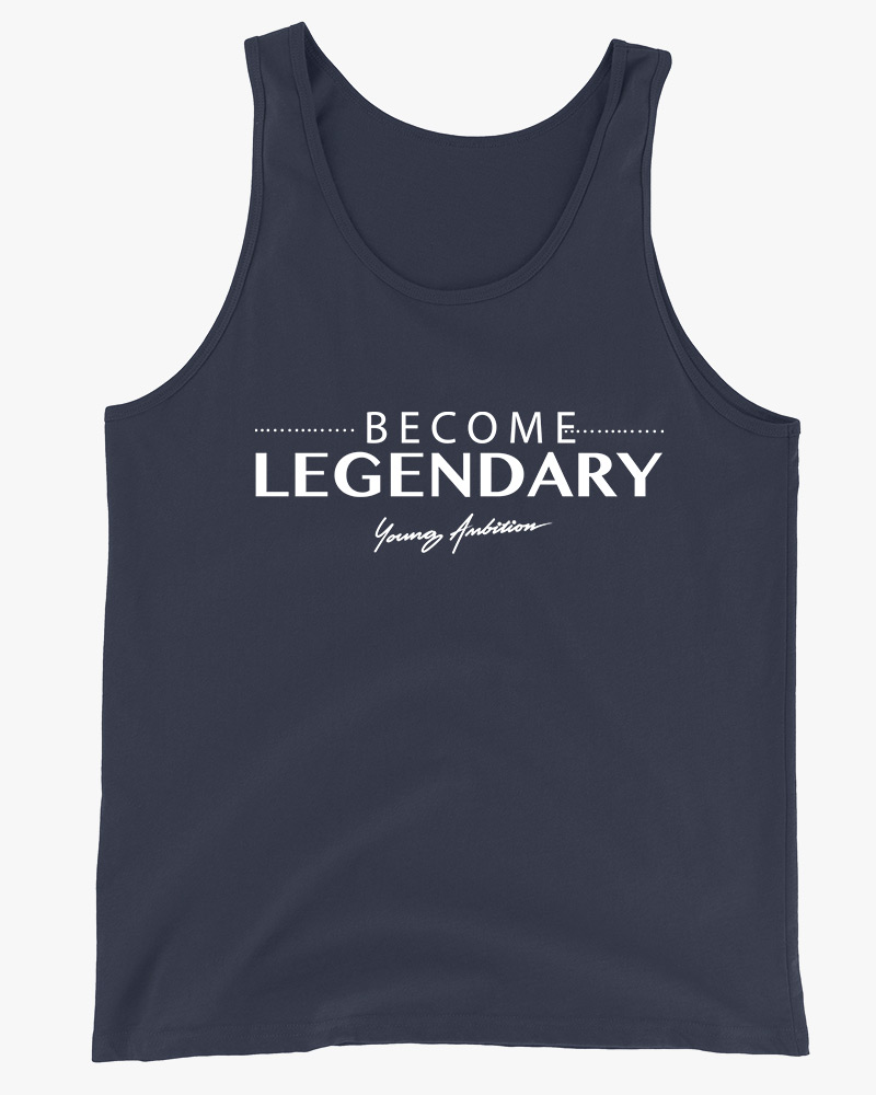 Become Legendary Men Tank Top Navy