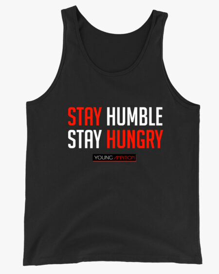 Stay Humble Men Tank Top Black