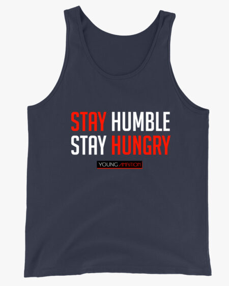 Stay Humble Men Tank Top Navy
