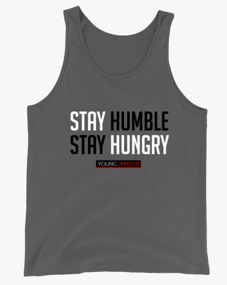 Stay Humble Men Tank Top Grey