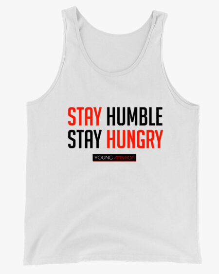 Stay Humble Men Tank Top White