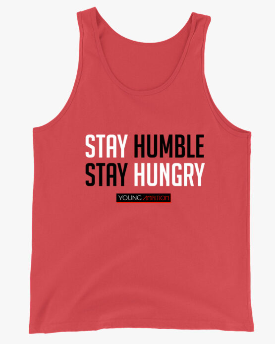 Stay Humble Men Tank Top Red