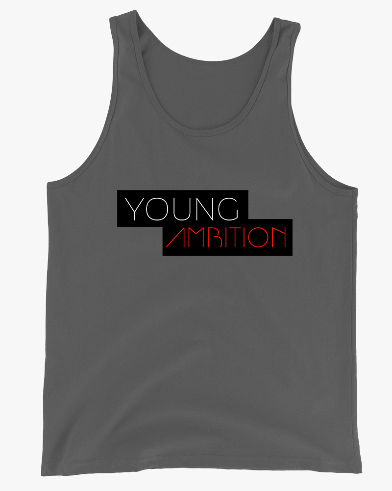 Young Ambition Men Tank Top Grey