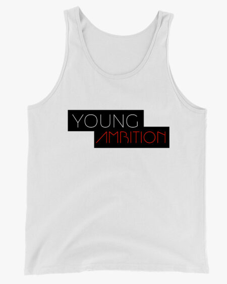 Young Ambition Men Tank Top White