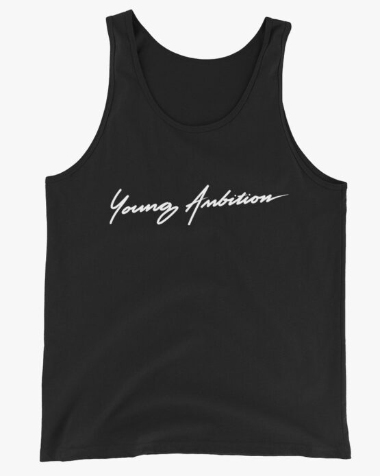 Young Ambition Cursive Men Tank Top Black