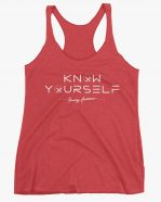 Know Yourself Geometric Women Tank Top Red