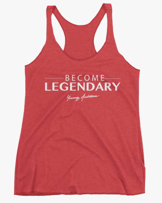 Become Legendary Women Tank Top Red