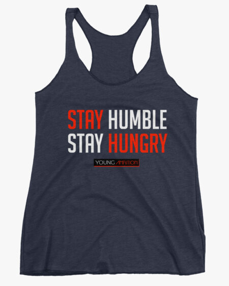 Stay Humble Women Tank Top Navy