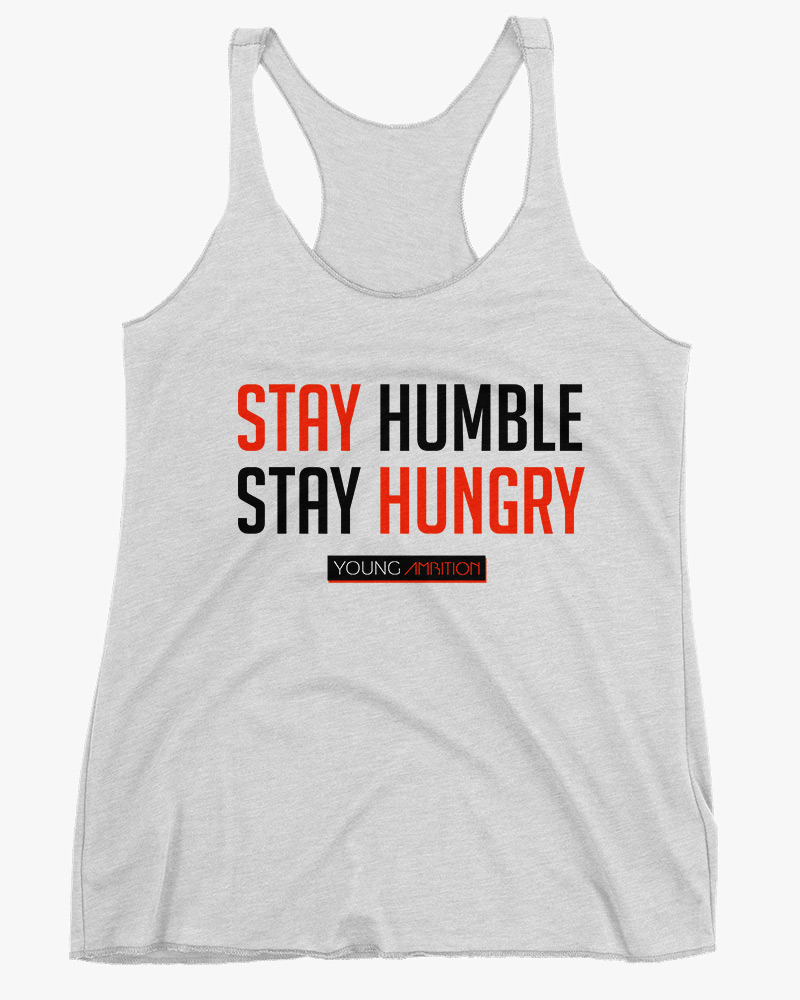 Stay Humble Women Tank Top White
