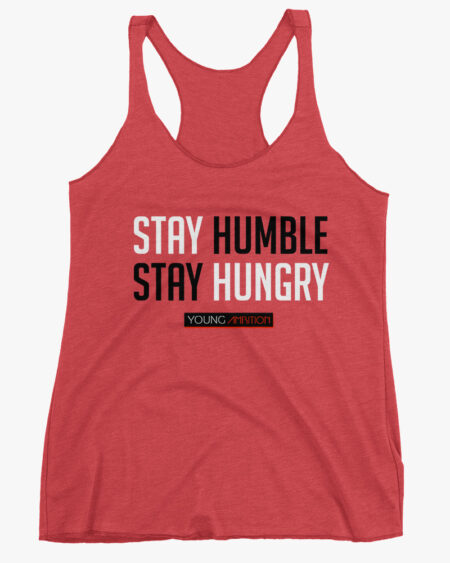 Stay Humble Women Tank Top Red