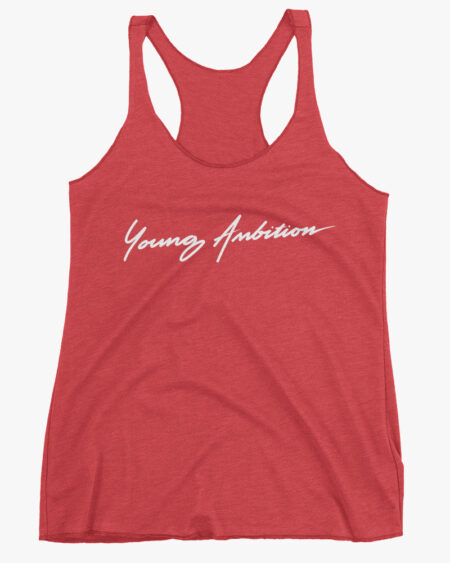 Young Ambition Cursive Women Tank Top Red