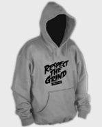 Respect The Grind Hoodie Light Grey