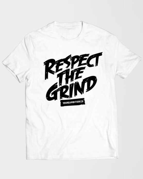 Respect the Grind Tshirt White