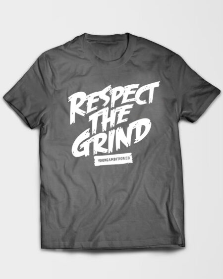 Respect The Grind Tshirt Grey