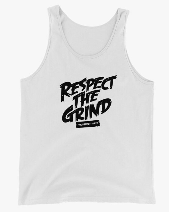 Respect The Grind Men Tank Top White