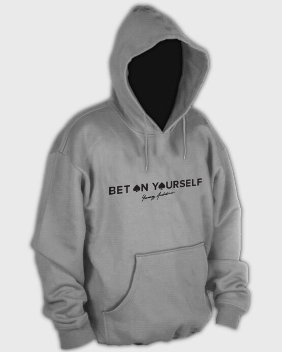 Bet On Yourself Hoodie Light Grey