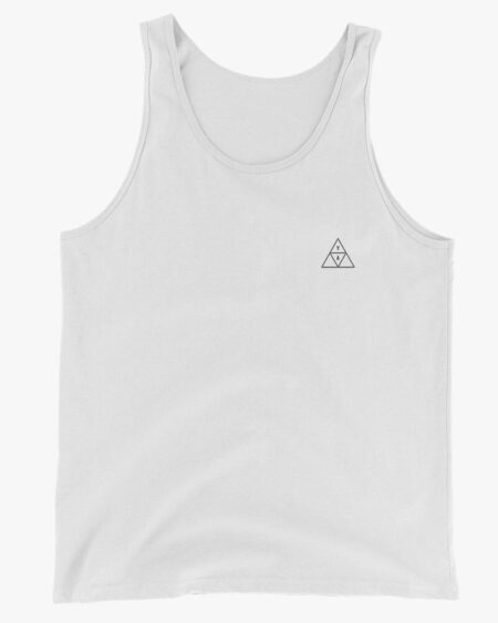 YA Trigon Men Tank Top White