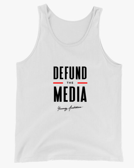 Defund the Media Men Tank Top